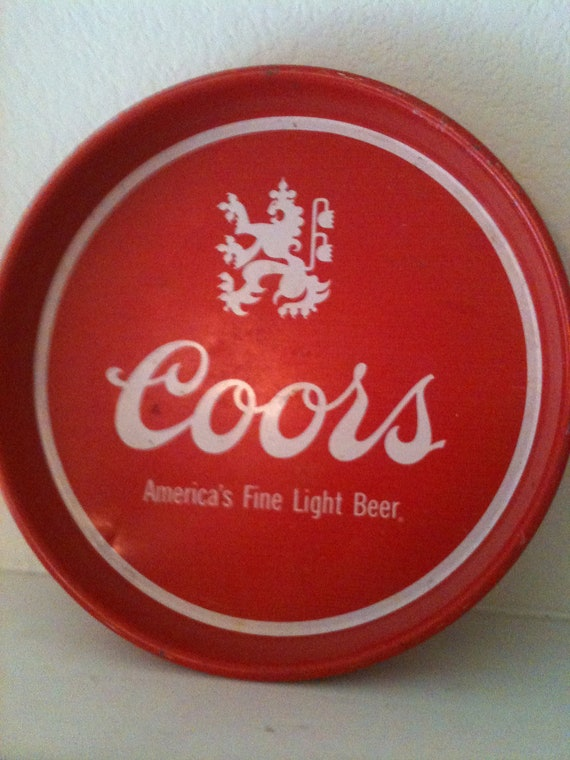 Coors beer tray/wall sign red