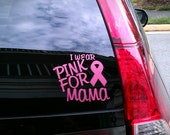 "Personalized 4""x4"" Breast Cancer Awareness Car Decal"