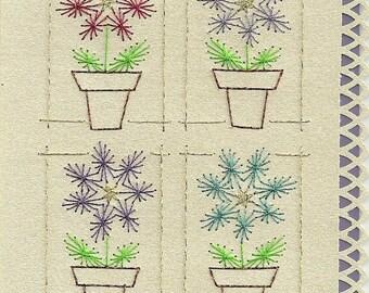 Four Flowers Card