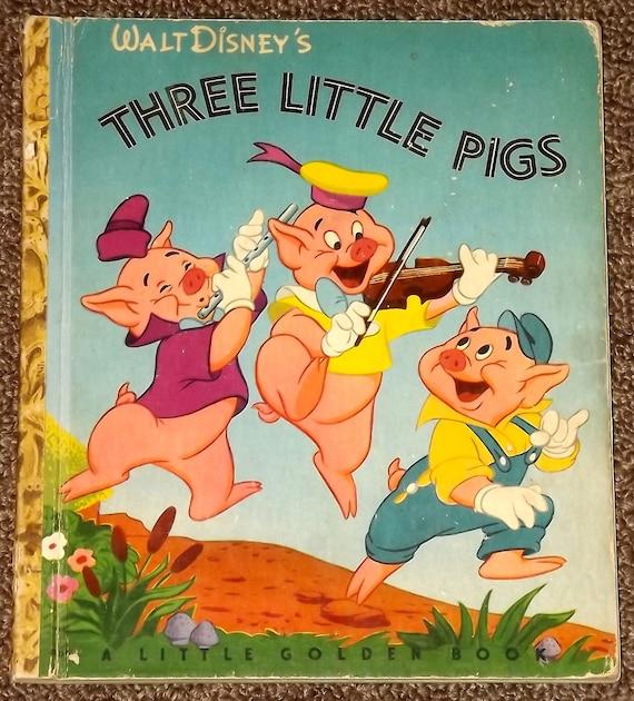 Walt Disney's Three Little Pigs Little Golden Book F
