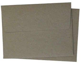 25  A6 A-6 Premium Kraft Brown Square-Flap Envelope - 4x6