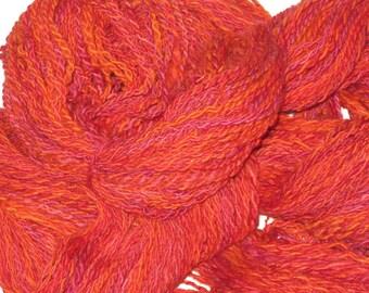 Flameleaf handspun wool yarn