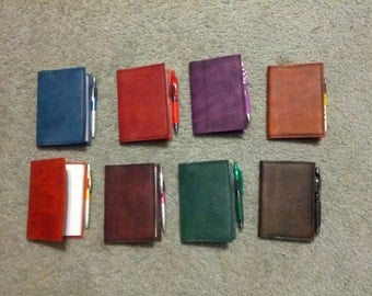 Leather pocket notebook - book style