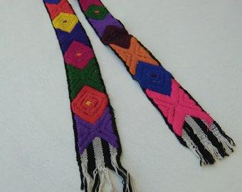 Belt, Guatemalan art, handmade embroidary