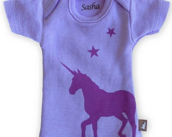 Sasha Doll & MSD sized T-Shirt - Lilac Unicorn