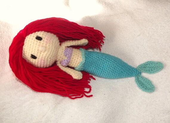 Amigurumi Mermaid Tail : The Little Mermaid Ariel Crochet Amigurumi by ...