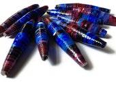 Galaxy Paper Beads- Paper Craft Jewelry, Destash, Ombre, Purple, Blue, Pink, Painted, Supplies, Destash  - (G1)
