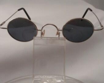 "Vintage Small ""Lennon specs"" Sunglasses (Silver) Round Small Retro Sunglasses, Cute Small Round Sunglasses"