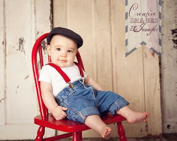 Big boy coolness perfectly designed for baby boy-Carter's brings it all toge Big boy coolness perfectly designed for baby boy-Carter's brings it all together with this three-piece set of a shirt-inspired bodysuit, jeans and suspenders.