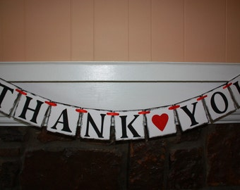 THANK YOU Wedding Banner - Engagement Party Decoration - Photo Prop