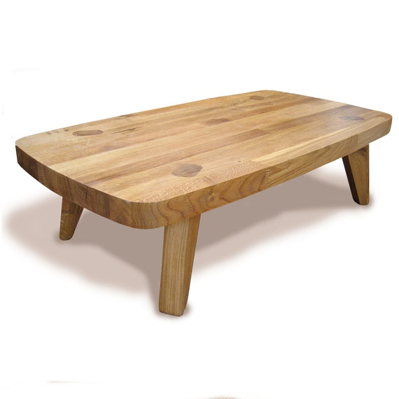 Items Similar To Bulldog Solid Oak Low Coffee Table On Etsy