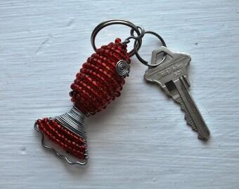 Beaded Fish Keychain from Kenya