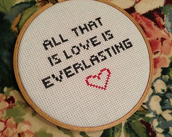 """Circa Survive """"All That Is Love Is Everlasting"""" Cross Stitch"""