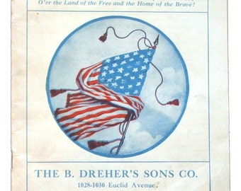 Best Old Songs - Vintage Patriotic Songbook Printed in 1913