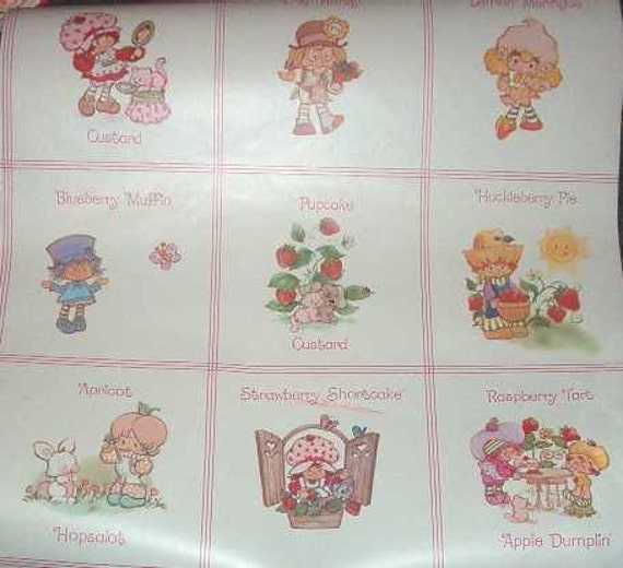 Strawberry Shortcake Vintage Wallpaper Section Tea 'n  Vintage Strawberry Shortcake Wallpaper