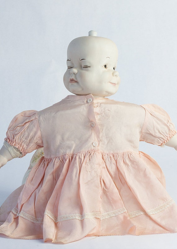 vintage 3 spinning faces porcelain doll by sadrosetta on etsy