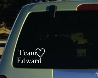 Twilight team edward  vinyl sticker
