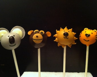 Zoo Animal Cake Pops