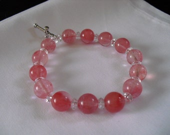 precious cherry quartz bracelet