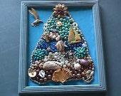 Vintage Jewelry Christmas Tree Frame Beach theme
