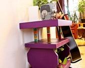 Fun, Trendy, Folk Hipster Style Purple Side Table