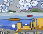 """Urban Drift 2/50 - this giclee print comes from an original 6x6"""" acrylic painting on canvas paper"""