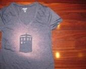 TARDIS Bleached Tee