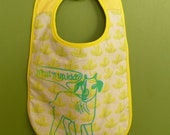 Original Kid Handprinted Handmade Snap To It Bib