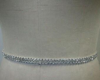 Wedding Belt, Bridal Belt, Bridesmaids Belt, Party Belt, Dazzeling Crystal Rhinestone Belt - Style B200