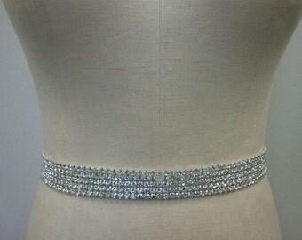 Wedding Belt, Bridal Belt, Sash Belt, Bridesmaid Belt, Crystal Rhinestone - Style B1016