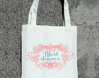 Maid of Honor Tote- Wedding Tote Bags