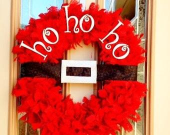 Santa Belt Wreath