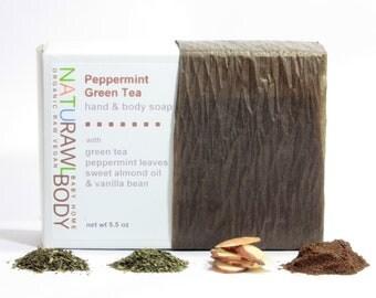 Peppermint Green Tea Body + Hand Bar Soap - 5.5 oz