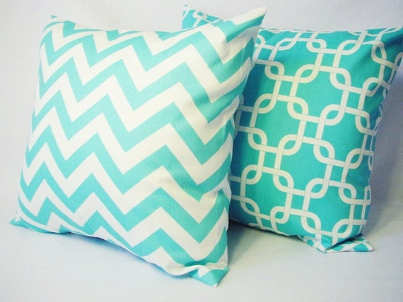 Teal Blue Throw Pillow Covers : Teal Decorative Throw Pillow Covers in Teal by CastawayCoveDecor