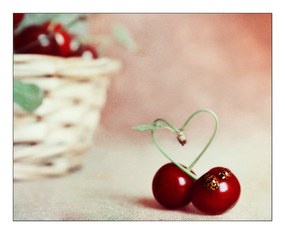 Http Www Etsy Com Listing 154578575 Cherry Kitchen Decor Love Heart Still
