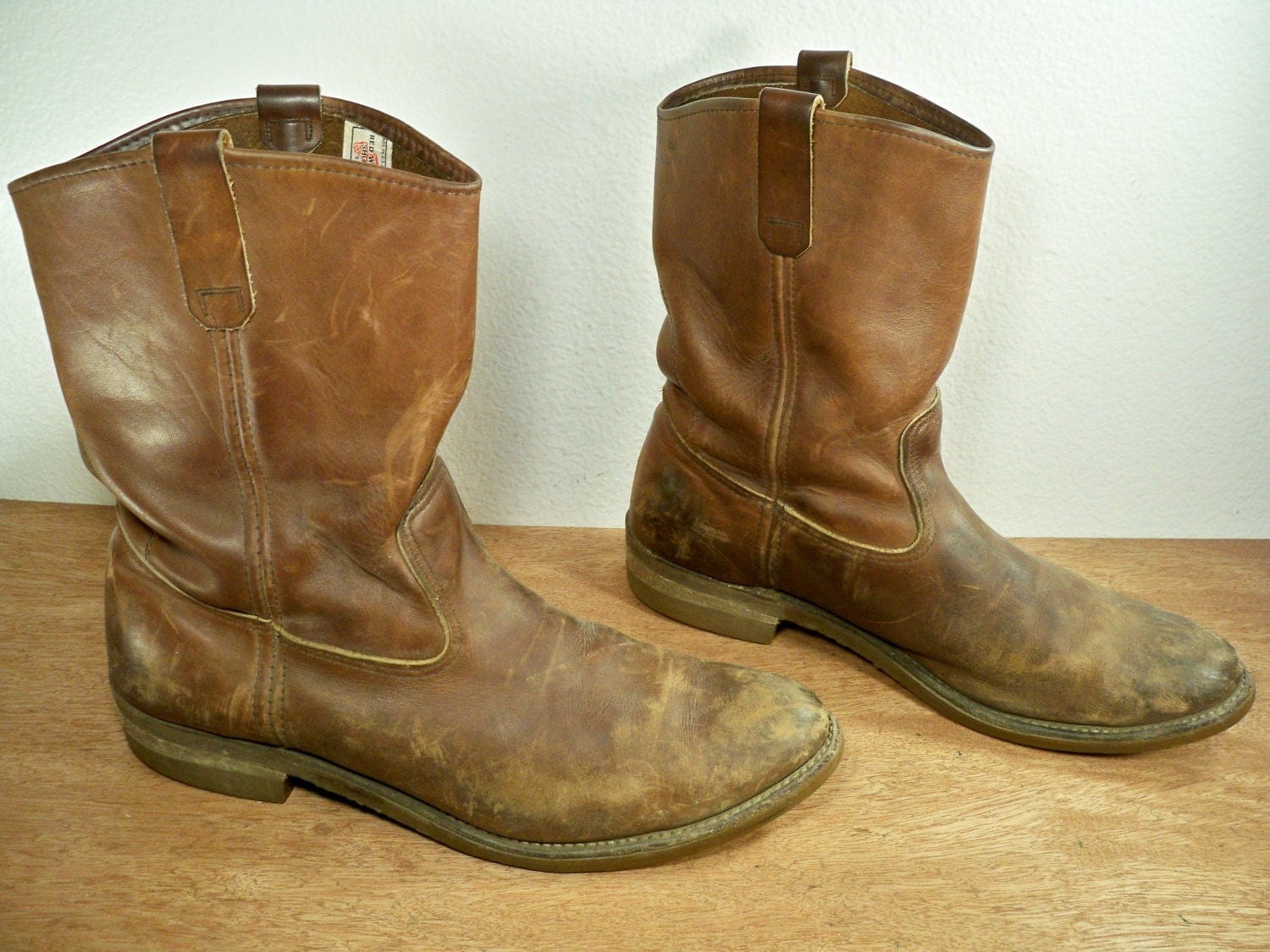 Vintage Red Wing Pecos Motorcycle Biker Riding Non Steel Toe