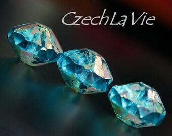 Czech Saucer blue capri and picasso (090-4)