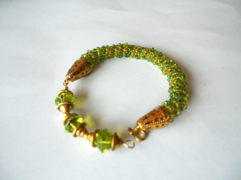 beaded jewelry bead woven spiral seed bead bracelet