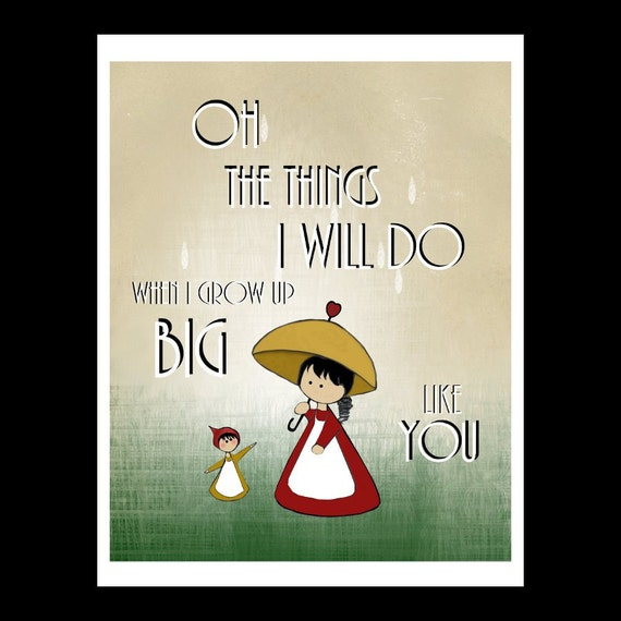 Growing Up Girl Quotes: Items Similar To Quote Art