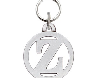 Pewter Pet Initial Tag - Cut-Out Z