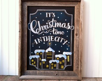 Christmas in the City Holiday Chalk Art