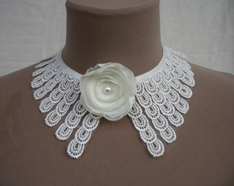 lace collar , necklaces
