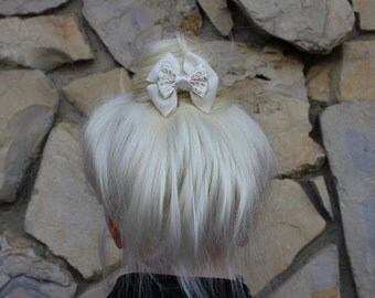 rapunzel wedding mini hair bow