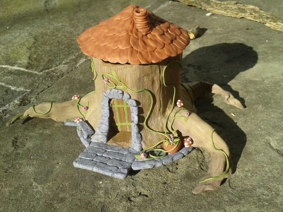 Fairy House Tree Stump Incense Burner By Avalkyriessundry