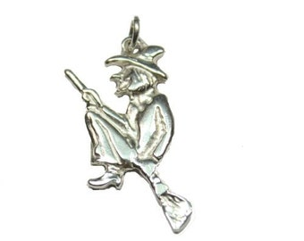 Sterling Silver Witch Pendant