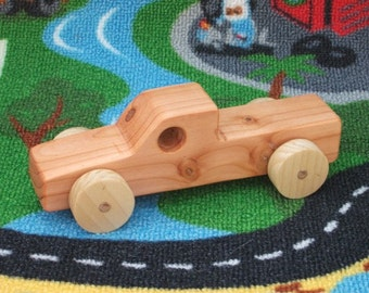 Beautiful, handcrafted, high quality wooden toy  truck (Pickup Truck).
