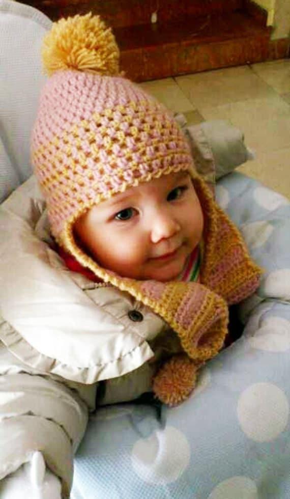 Gorros de lana para bebés con orejas - Imagui