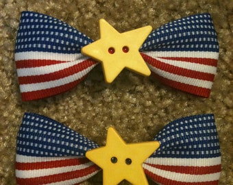 Patriotic Hair Clips