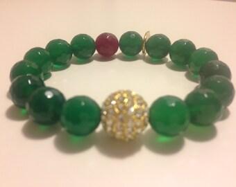 Emerald Agate Love Bracelet