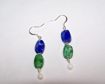 Earrings  Sea and Sky